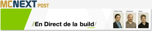 En direct de la Build