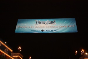 Disneyland : The SharePoint Conference Evening Event