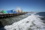 Santa Monica : Pacific Park en bord de mer