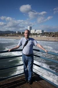 Santa Monica - Stéphane sur le ponton