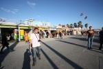 Venice Beach - Marc dans les allées commerçantes