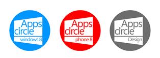 Les logos de compétences Apps Circle