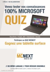 Techdays 2013 Quiz DotNET MCNEXT