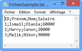 Contenu du fichier FichierExemple.txt