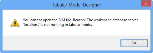 Erreur lors de la création d'un projet tabulaire