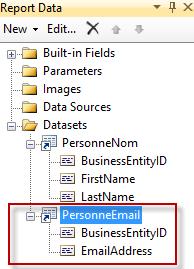 DataSet Partagé : PersonneEmail