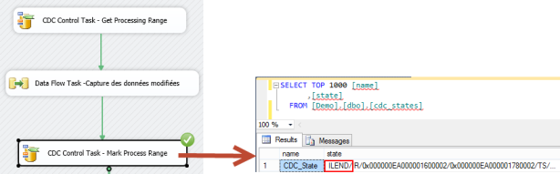 Table CDC_States à l'étape Mark Process Range