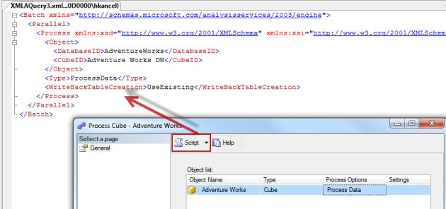 Traiter un cube depuis son code XMLA