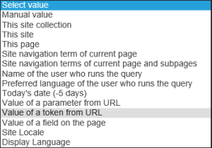Liste filtre Query Builder