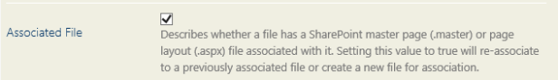 Fichier associé
