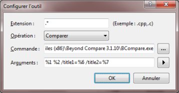 Intégrer Beyond Compare à Visual Studio – Les articles des