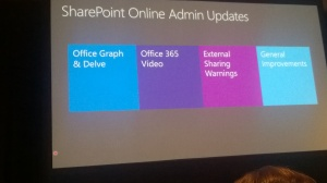 Microsoft Ignite 2015 – SharePoint Online and OneDrive for Business Management and Control – Mercredi 6 mai Code : BRK3123