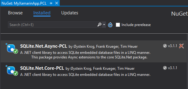 Xamarin – Using SQLite NET Async with PCL – Les articles des