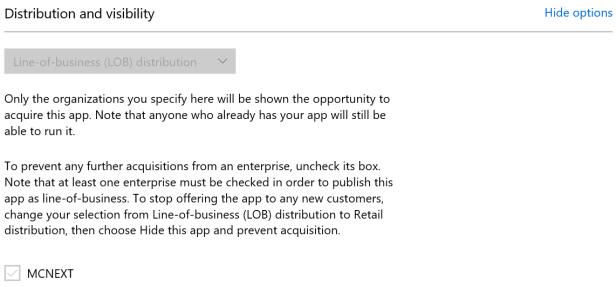 Publish LOB app