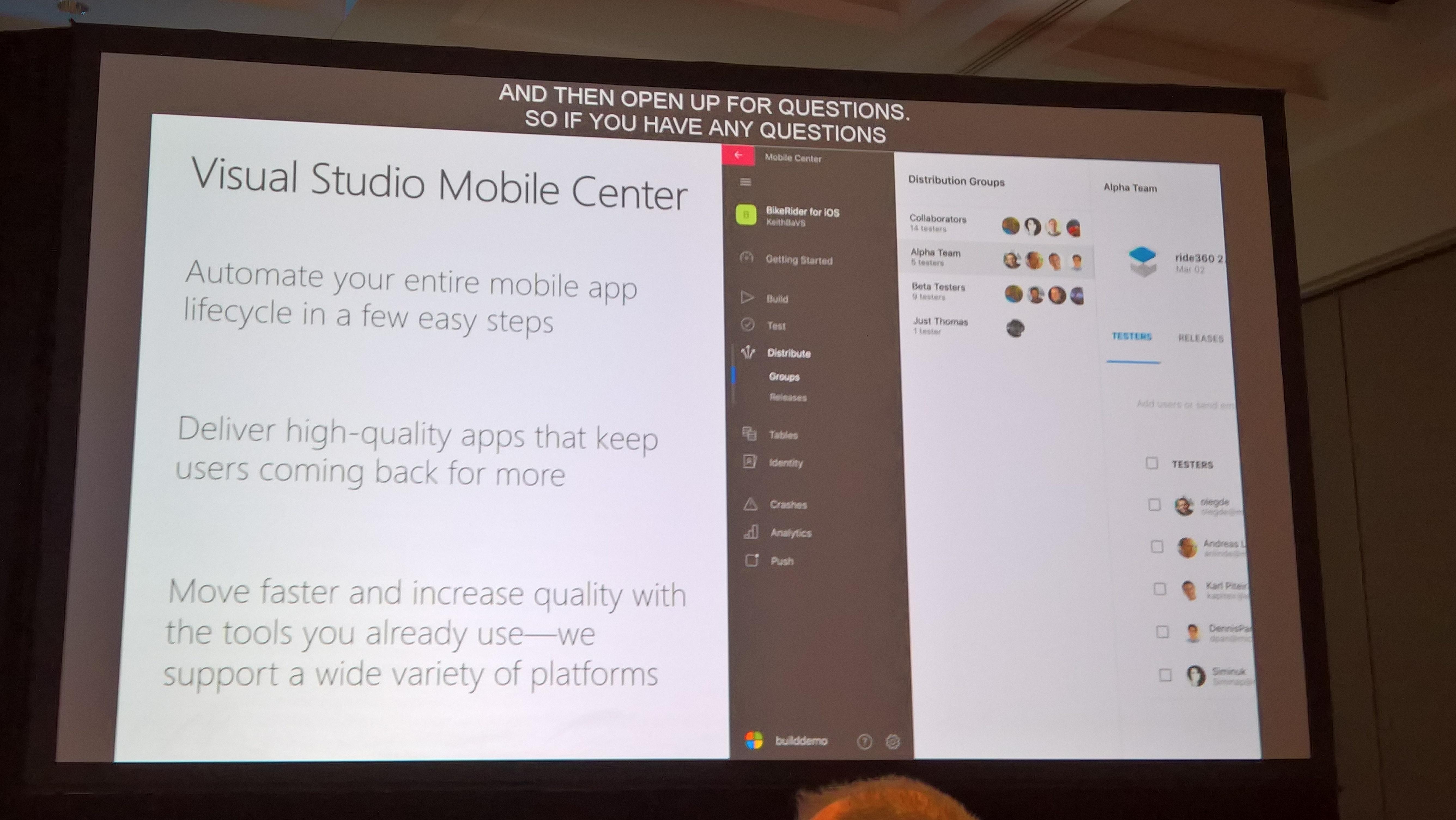 Build 2017 – Visual Studio Mobile Center / Fluent Design